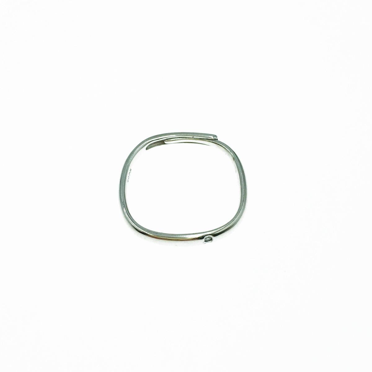 韓國 925純銀 水鑽 簡約款 可調式 戒指