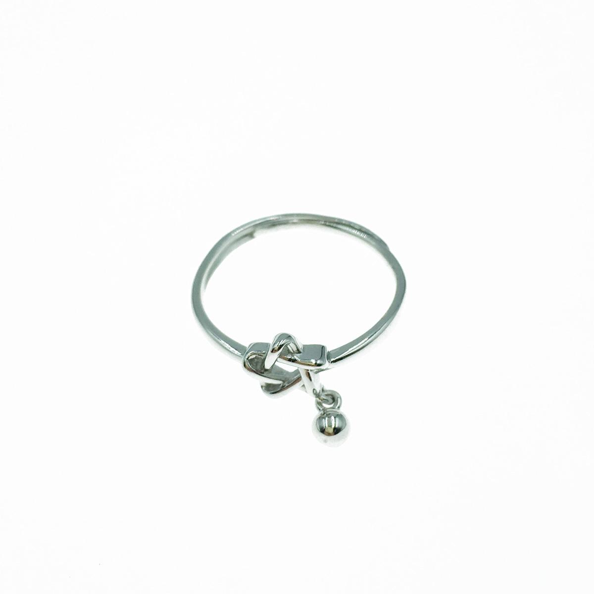 韓國 925純銀 簍空星星 垂墜 戒指