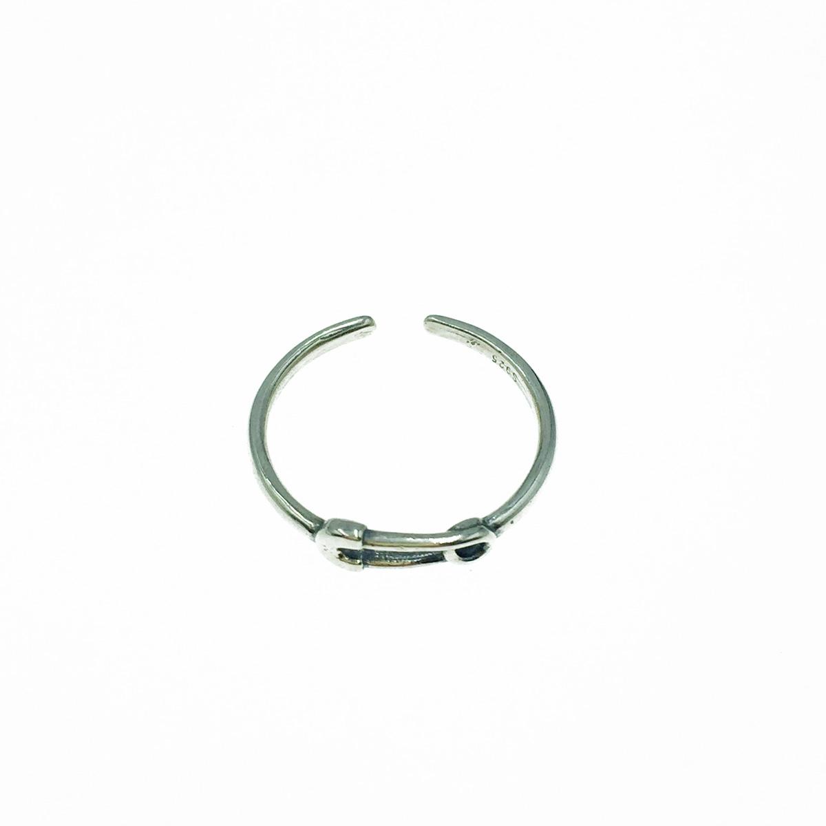 韓國 925純銀 迴紋針造型 可調式 戒指