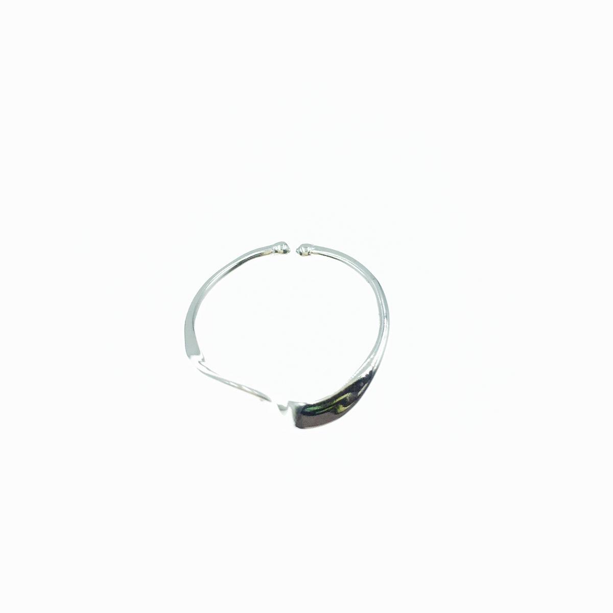韓國 925純銀 波浪曲線 可調式 戒指