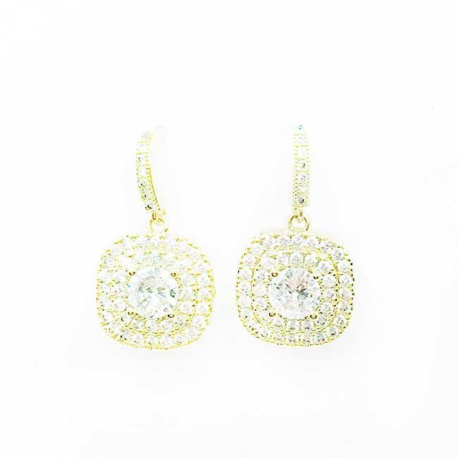 韓國 925純銀 水鑽 優雅款 垂墜感 耳針式耳環