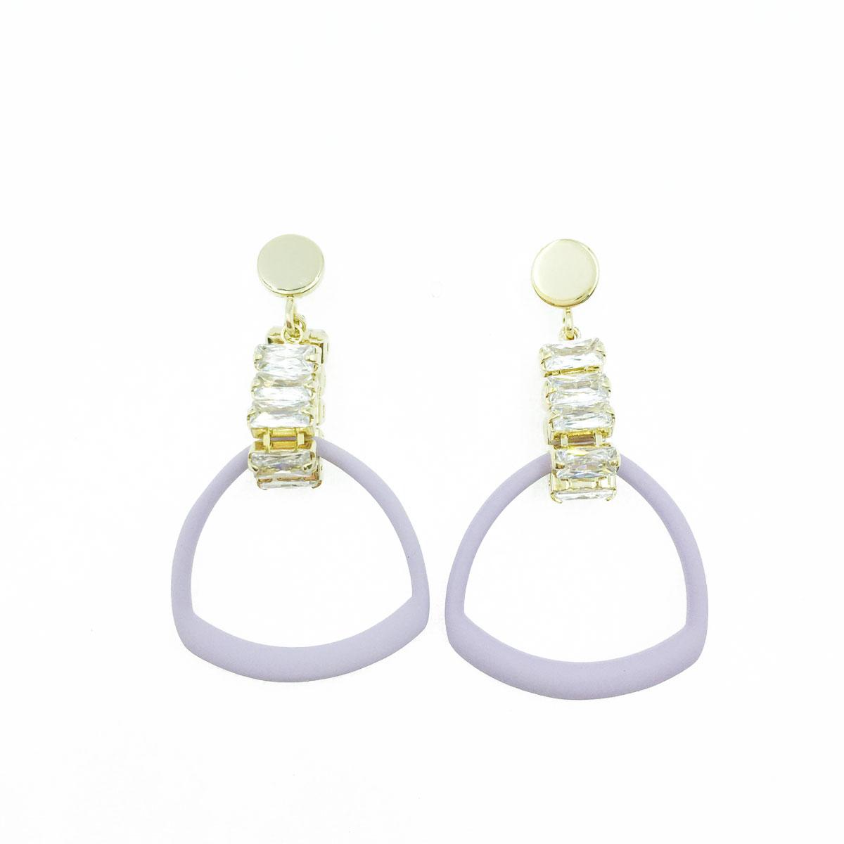 韓國 925純銀 不規則 簍空 造型 水鑽 垂墜感 耳針式耳環