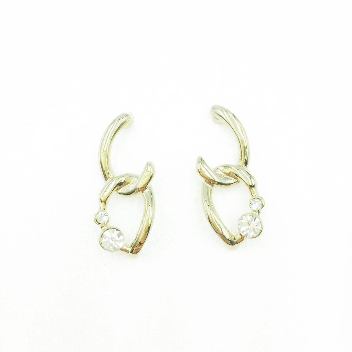 韓國 925純銀 水鑽 金屬 簍空 造型 耳針式耳環