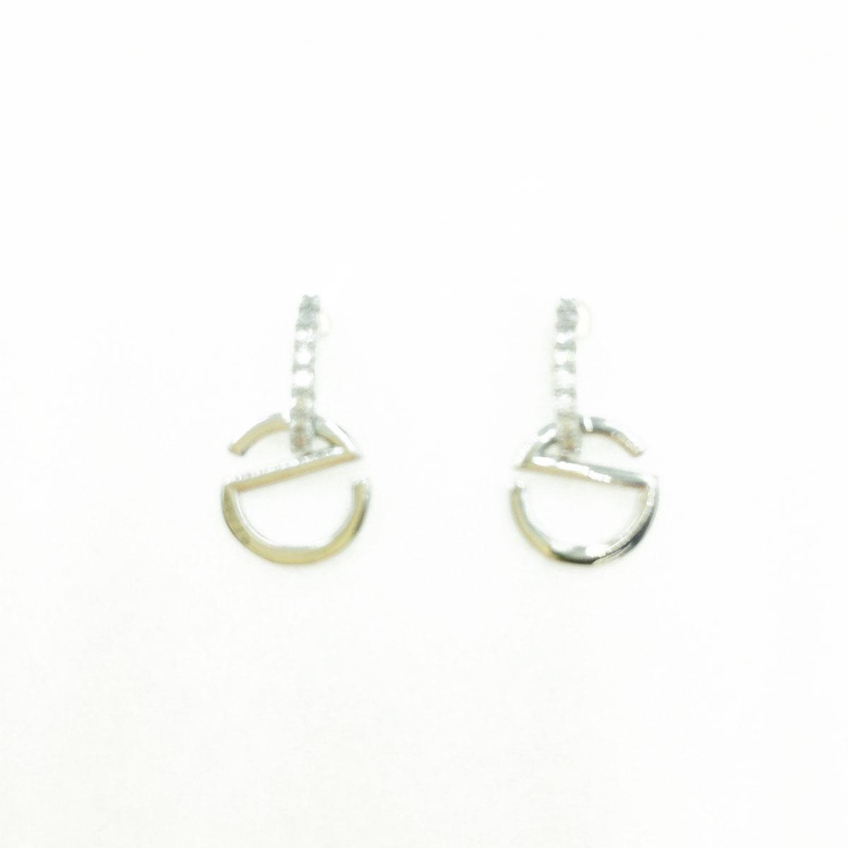 韓國 925純銀 水鑽 造型 銀色 明星款飾品 耳針式耳環