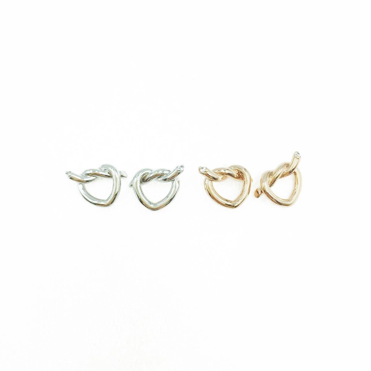 韓國 925純銀 愛心 造型 銀色 玫瑰金 明星款飾品 耳針式耳環