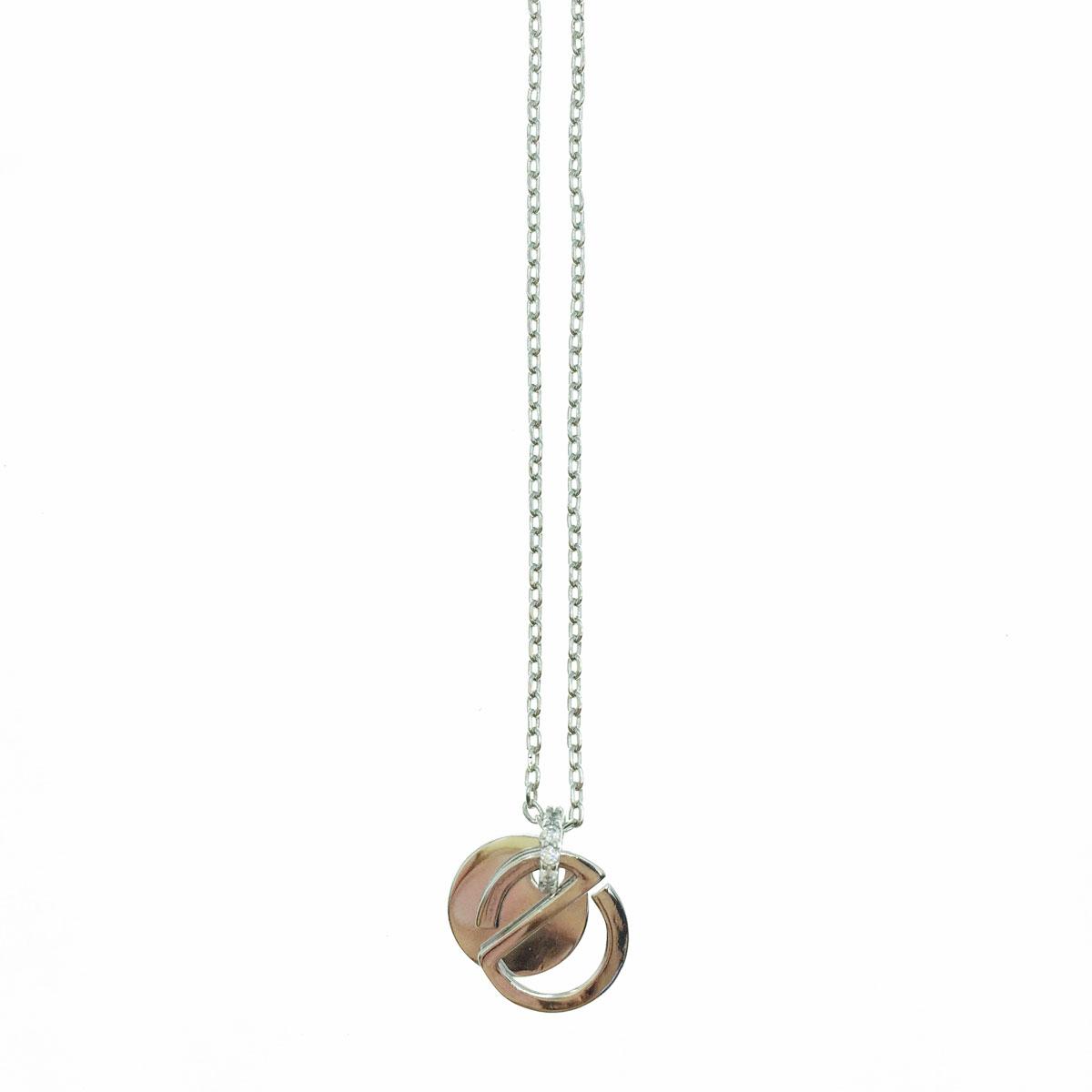韓國 金屬 造型 銀色 短鍊 項鍊