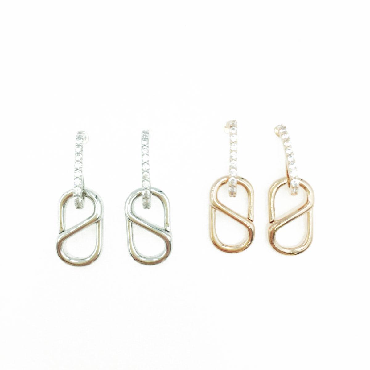 韓國 925純銀 水鑽 造型 銀 玫瑰金 明星款飾品 耳針式耳環