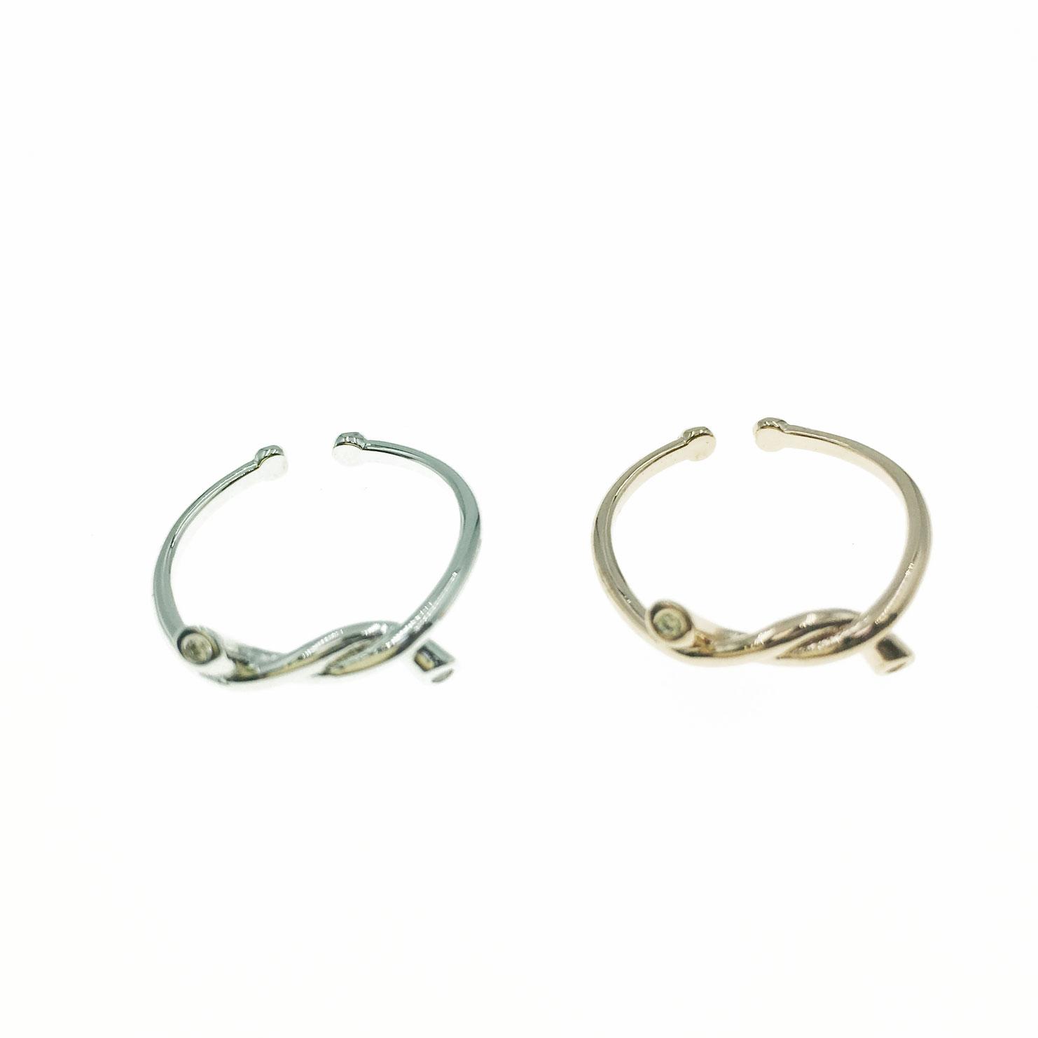 韓國 水鑽 造型 銀色 玫瑰金 明星款飾品 可調式 戒指