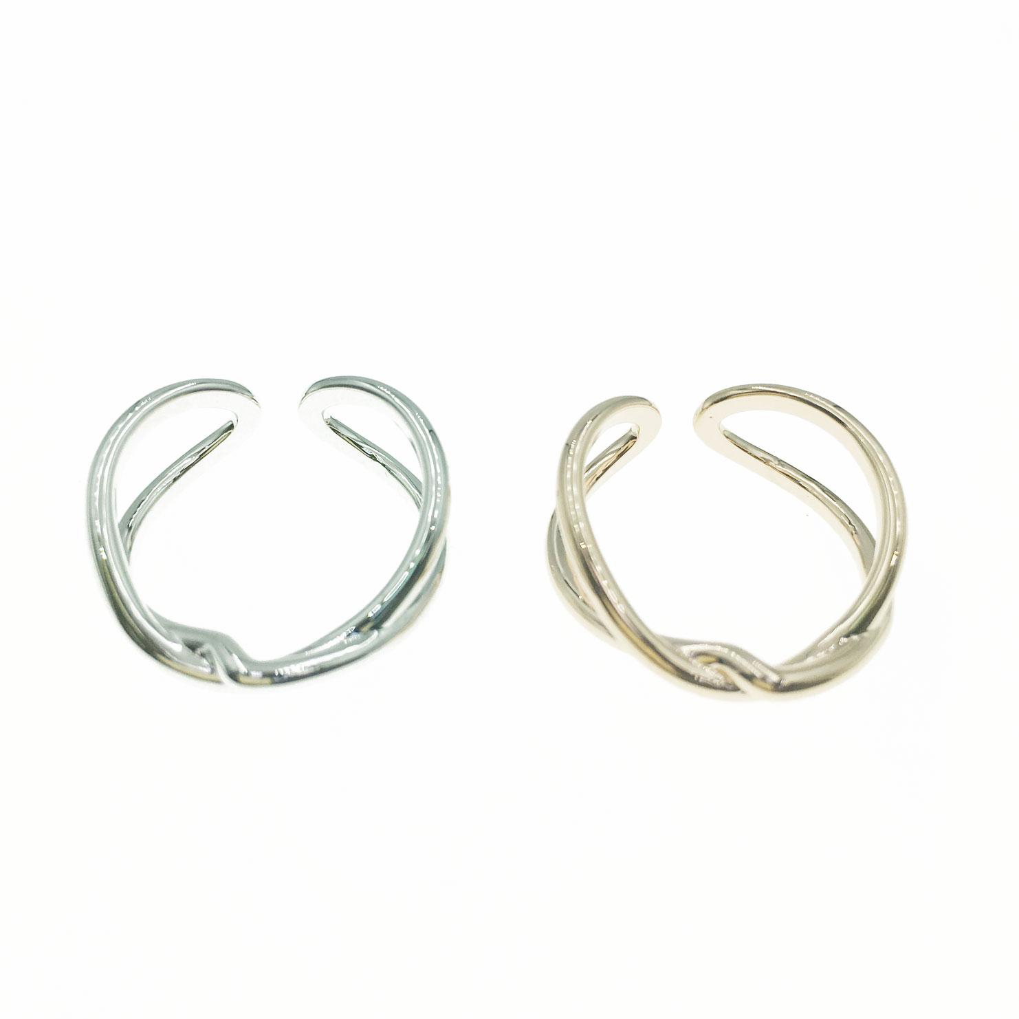 韓國 金屬 造型 銀色 玫瑰金 明星款飾品 可調式 戒指