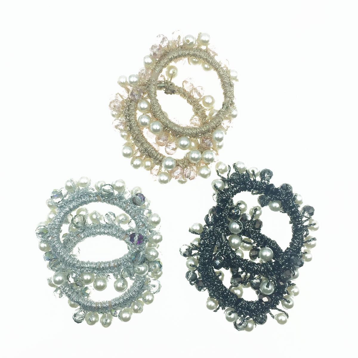 韓國 珠珠 珍珠 3色 2入 髮飾 髮圈 髮束