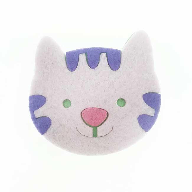 韓國 貓咪 絨毛 撞色 髮飾 彈力夾 髮夾