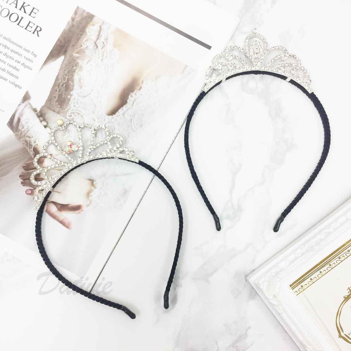皇冠 水鑽 立冠 簍空 優雅風 2款 髮飾 髮箍 頭箍