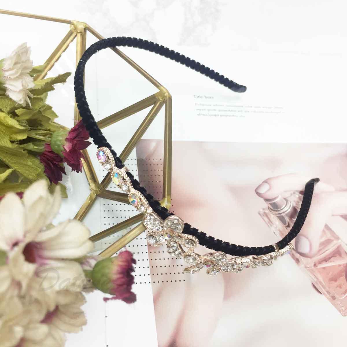 花 水鑽 玫瑰金 甜美氣質款 髮飾 頭箍 髮箍