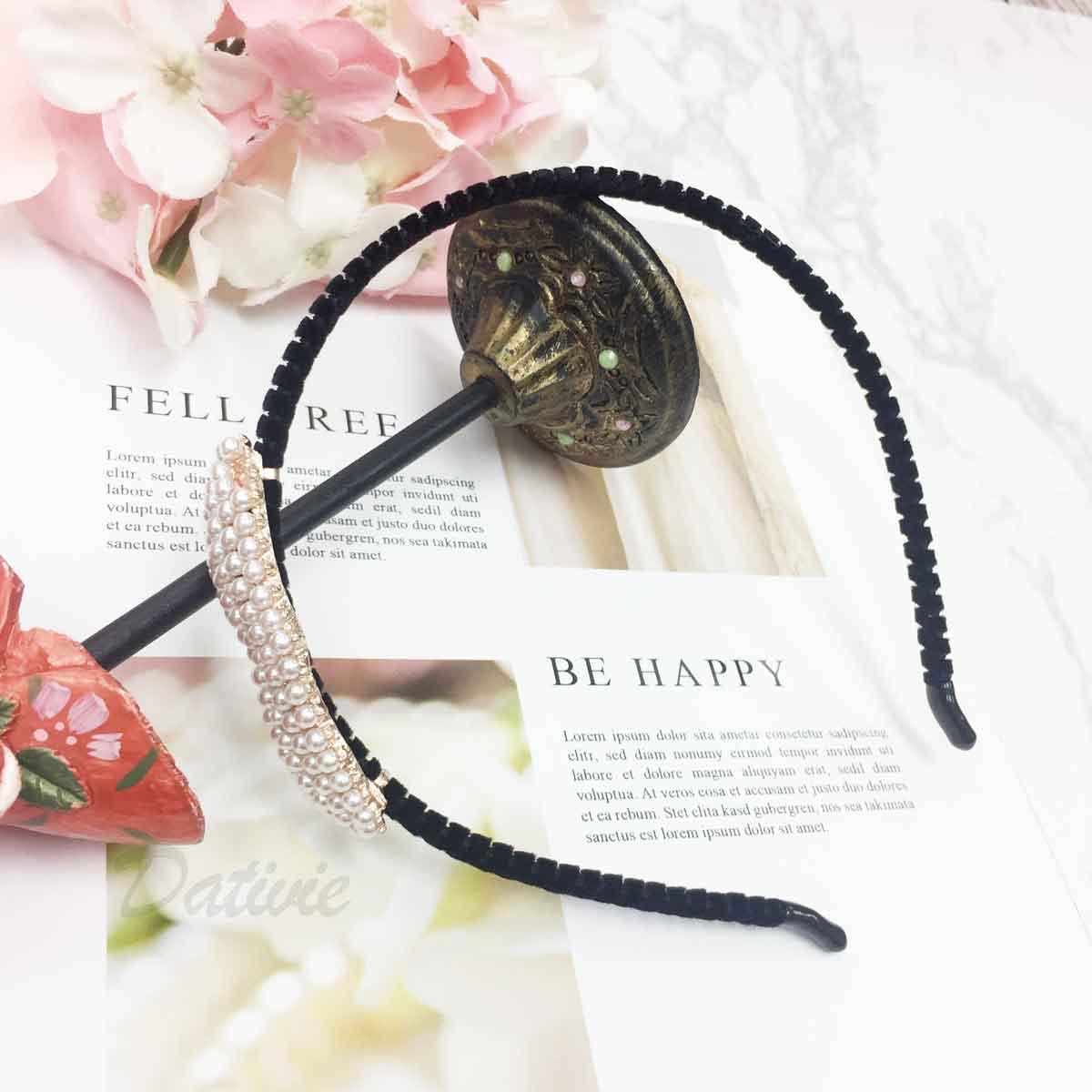 愛心造型 珍珠 滿版 甜美氣質款 髮飾 頭箍 髮箍