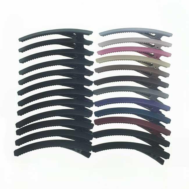 韓國 基本百搭款 日常 莫蘭迪色 12入組 髮飾 壓夾 髮夾