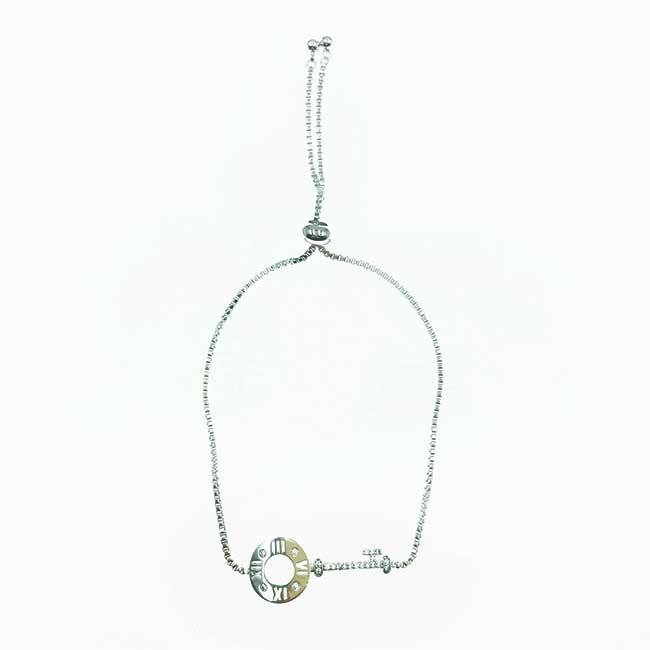 韓國 鑰匙 鎖匙 水鑽 羅馬數字 精緻 手鍊