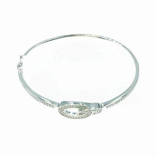 韓國 簍空 扣環 水鑽 精緻 質感 手環
