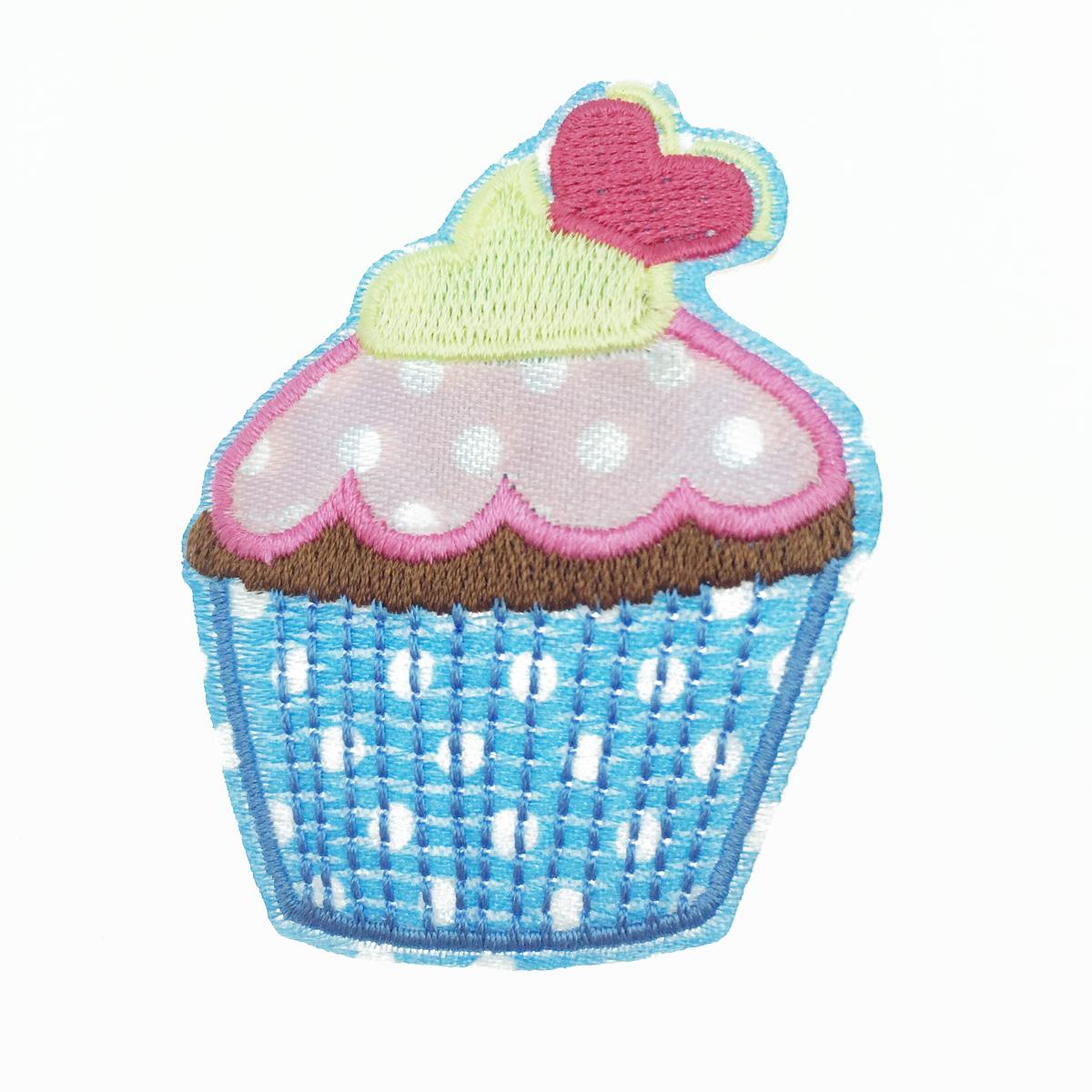 韓國 燙布貼 可愛甜點 杯子蛋糕 愛心 胸針 別針
