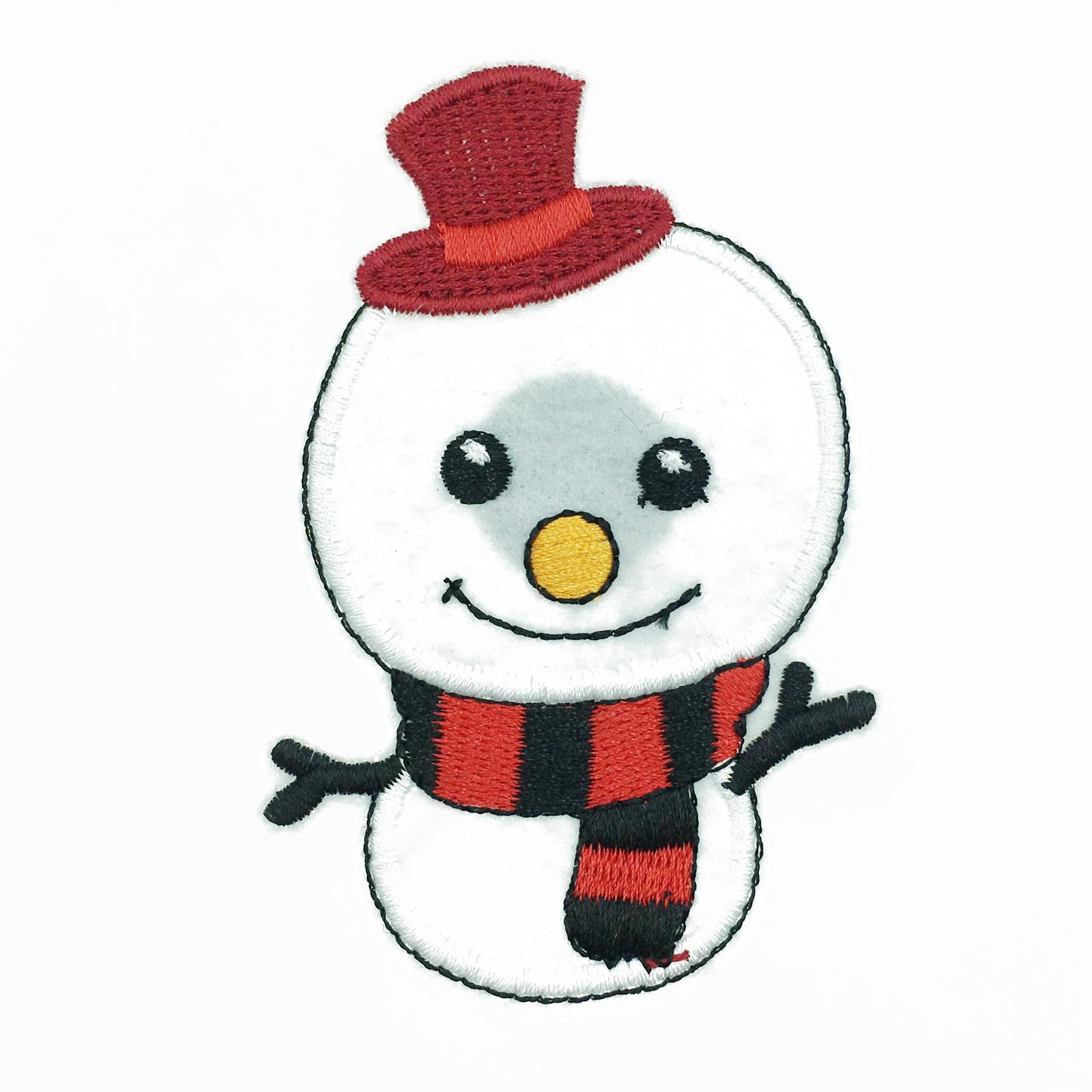 韓國 大頭雪人 刺繡 帽子 圍巾 聖誕節飾品 胸針 別針