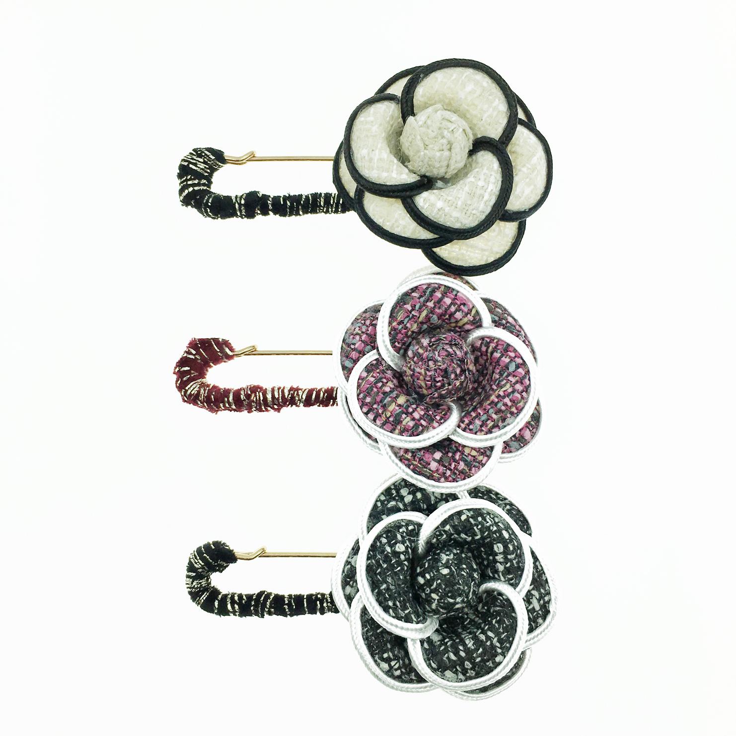韓國 山茶花 小香風 質感 3色 別針 胸針