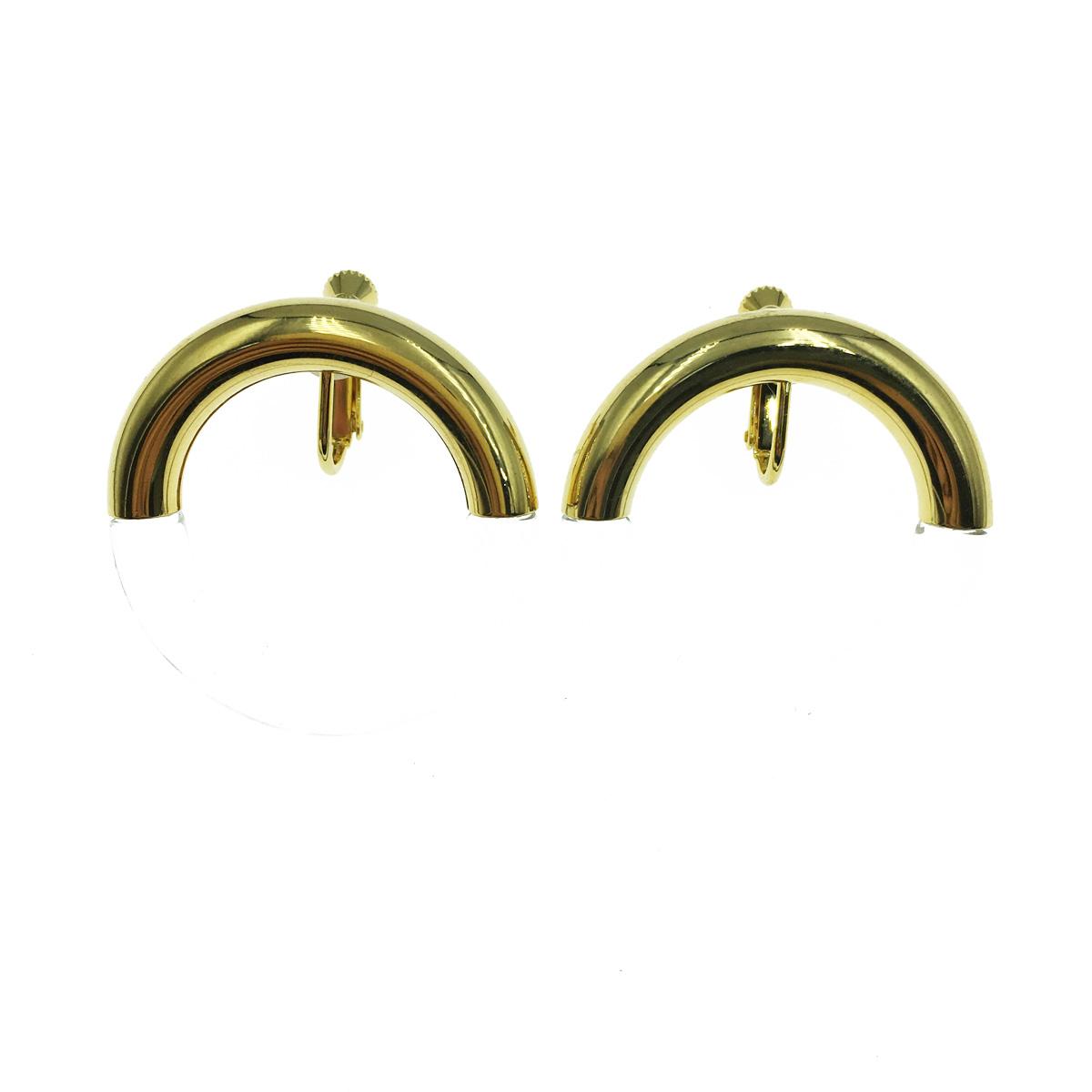 韓國 圓圈 圈圈 撞色 透明 耳夾式耳環