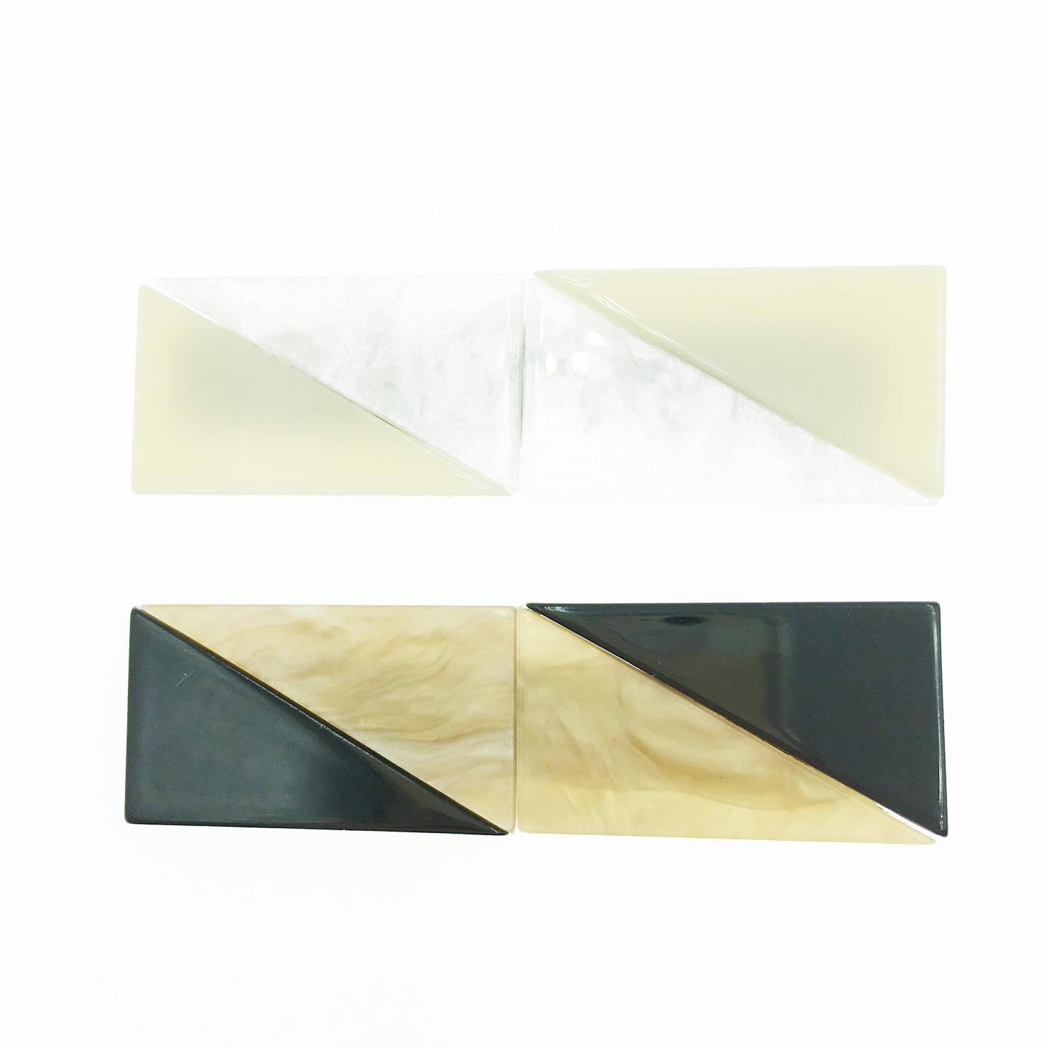 韓國 拚色造型 簡約 2色 髮飾 側邊夾 壓夾 髮夾