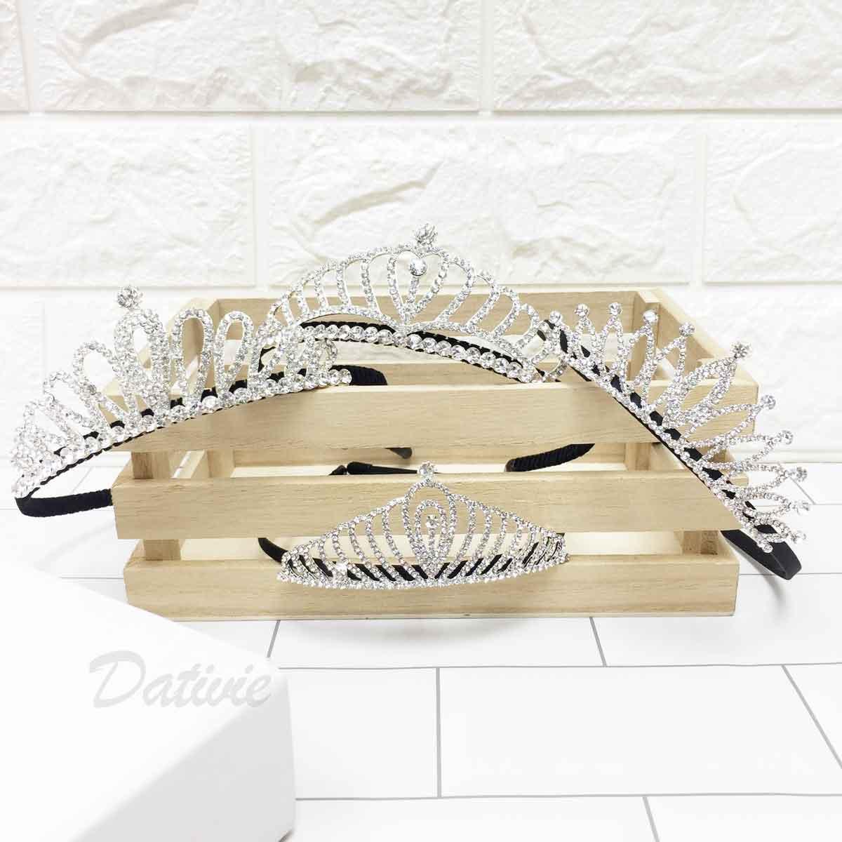 水鑽皇冠 立體 公主 兒童髮飾 髮箍 頭箍