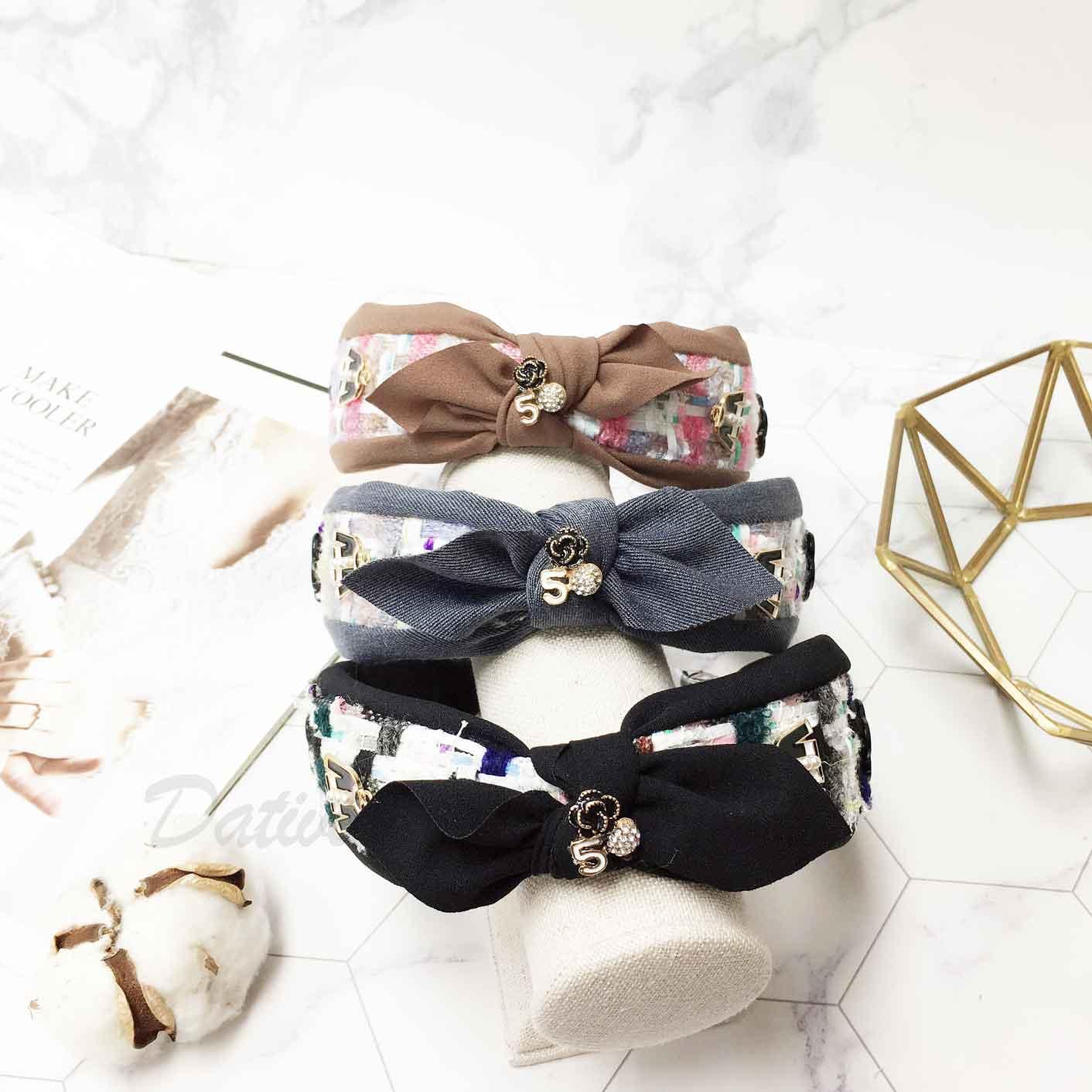 韓國 小香風 山茶花 珍珠外套 水鑽 蝴蝶結 髮飾 髮箍 頭箍