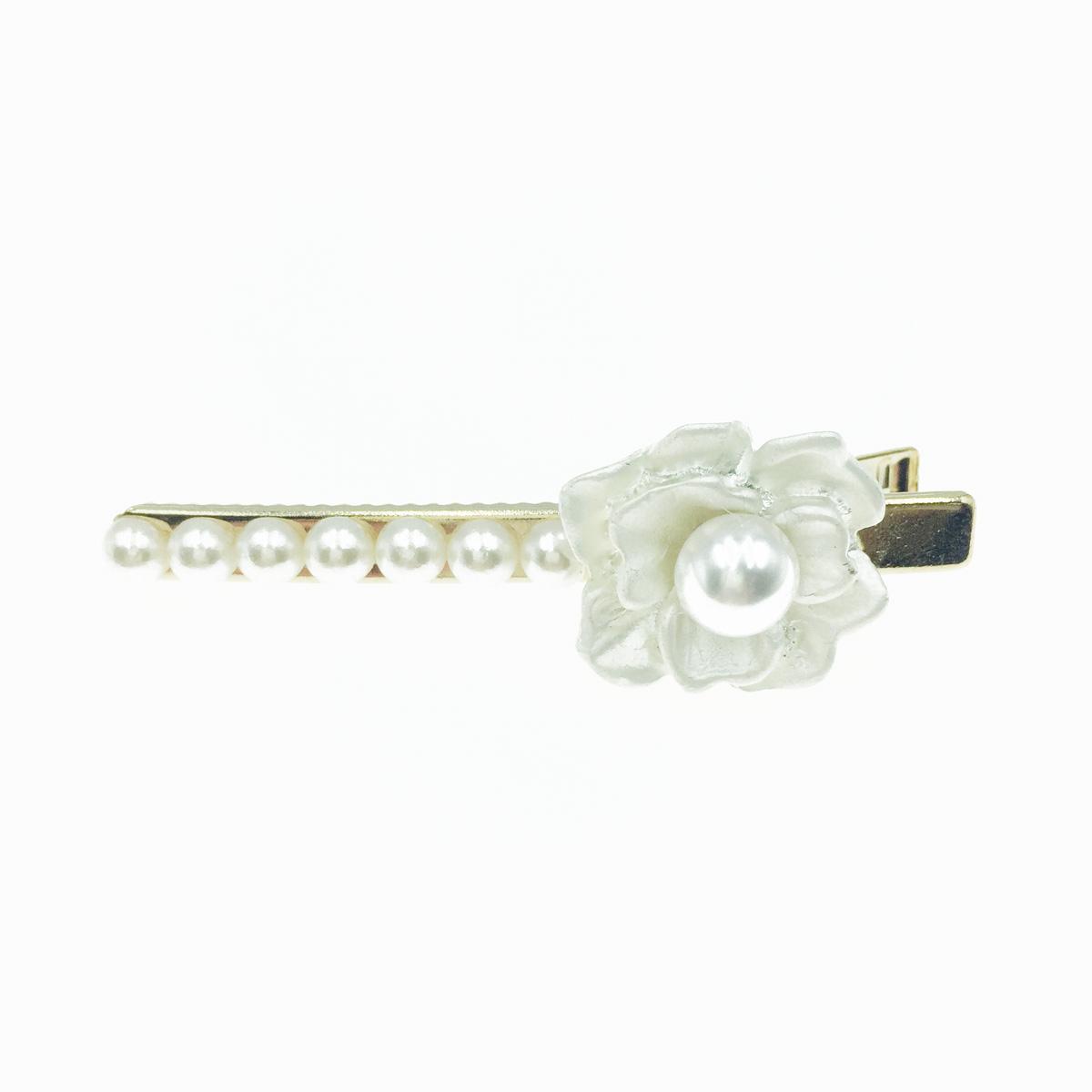 韓國 花造型 珍珠 氣質甜美風 髮飾 髮夾 壓夾