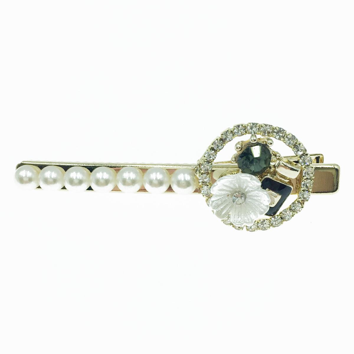 韓國 小花 水鑽 珍珠 香水瓶 髮飾 髮夾 壓夾
