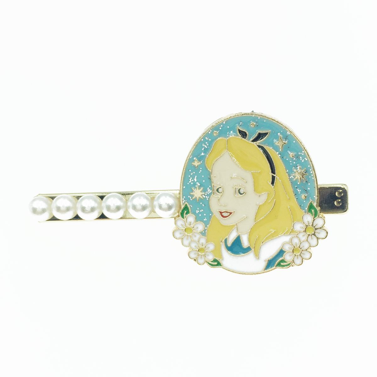 韓國 愛麗絲 童話故事 珍珠 髮飾 髮夾 壓夾