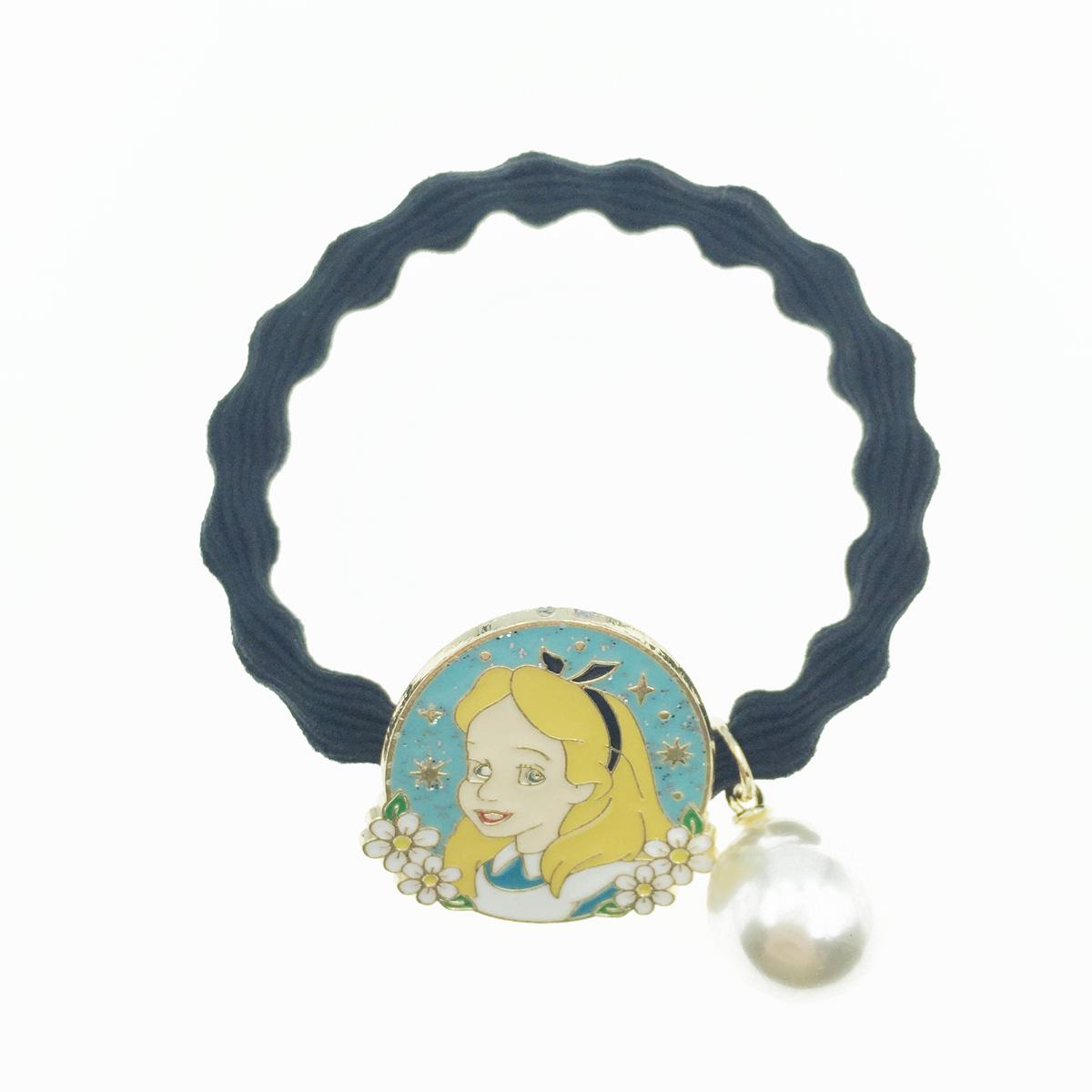 韓國 愛麗絲 珍珠墜飾 髮飾 髮圈 髮束