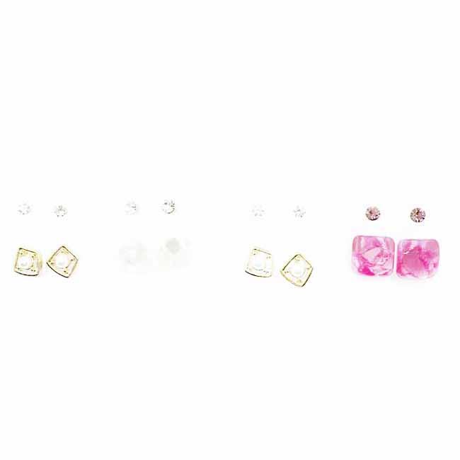 韓國 水鑽 單鑽 多入組 珍珠 涼感寶石 耳針式耳環