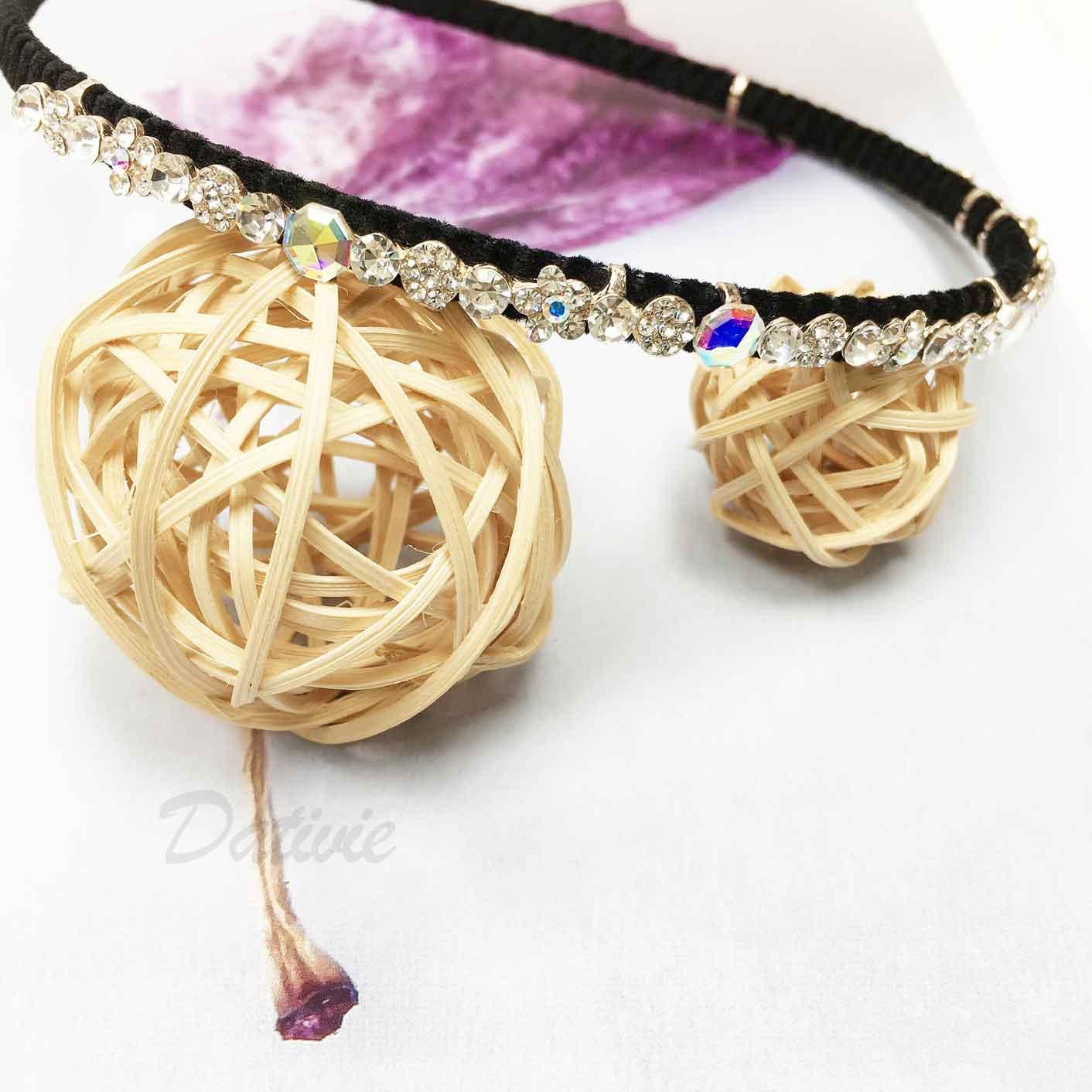 花 圓鑽 水鑽 髮飾 髮箍 頭箍