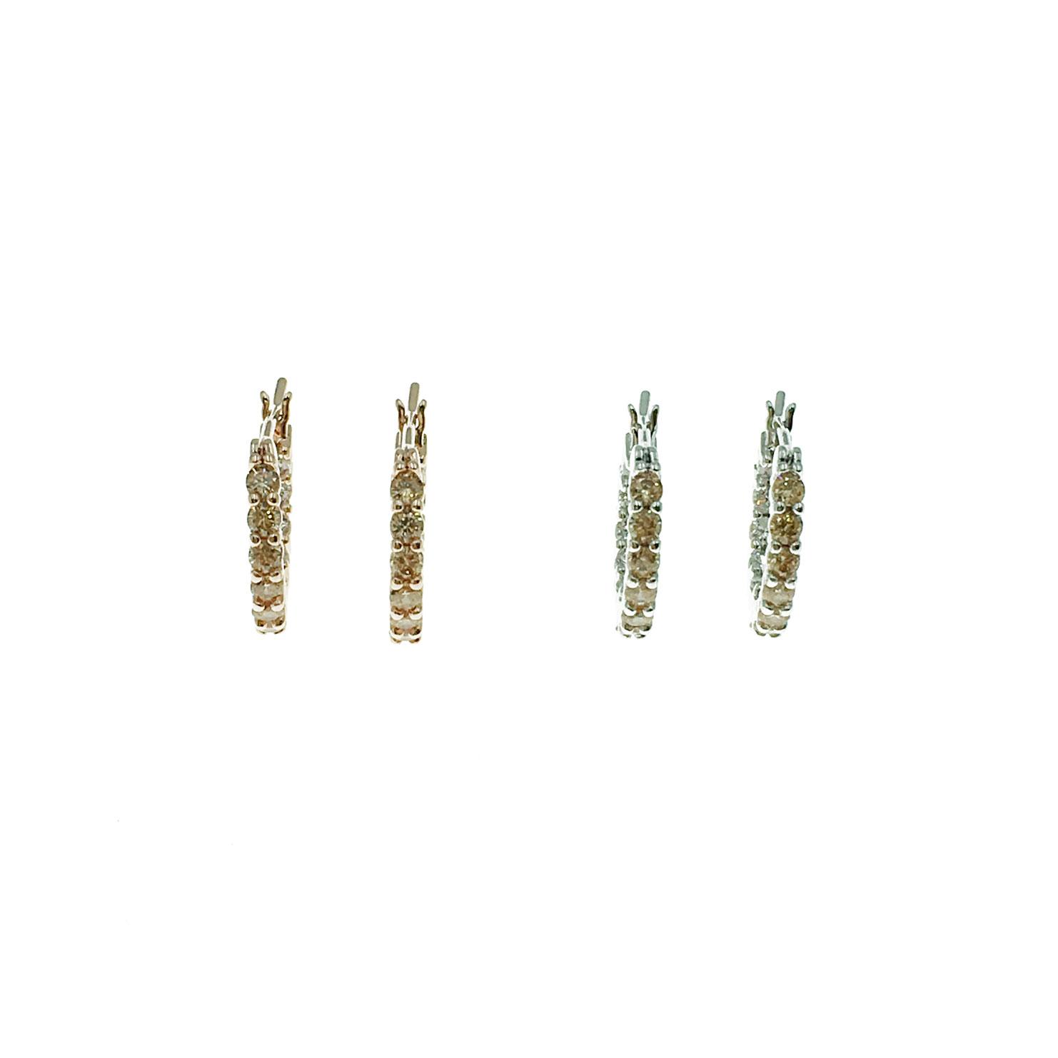 韓國 925純銀 明星款 水鑽 彩鑽 圓圈 兩色 耳針式 耳環