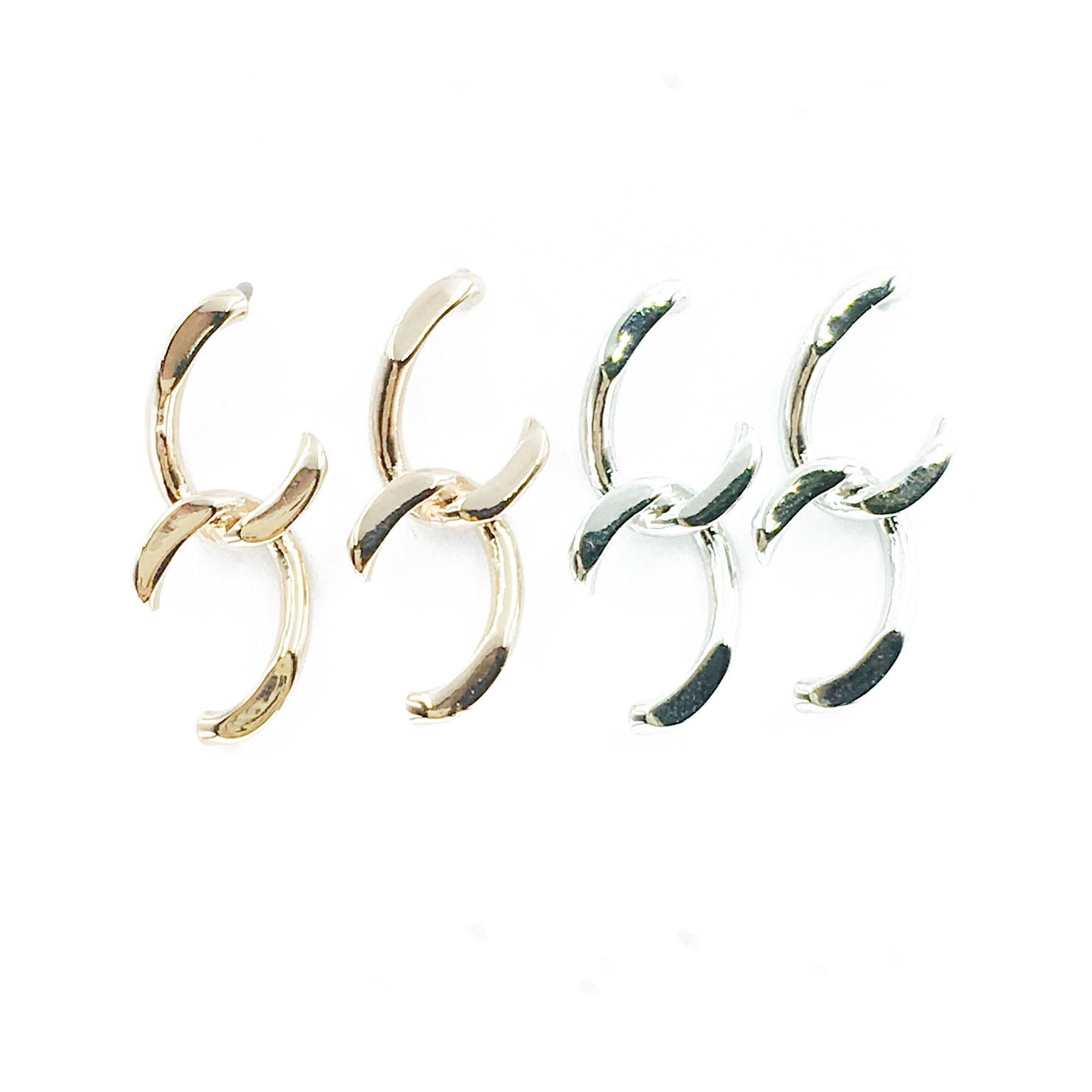 韓國 925純銀 明星款 鐵鍊感 垂墜感 耳針式 耳環