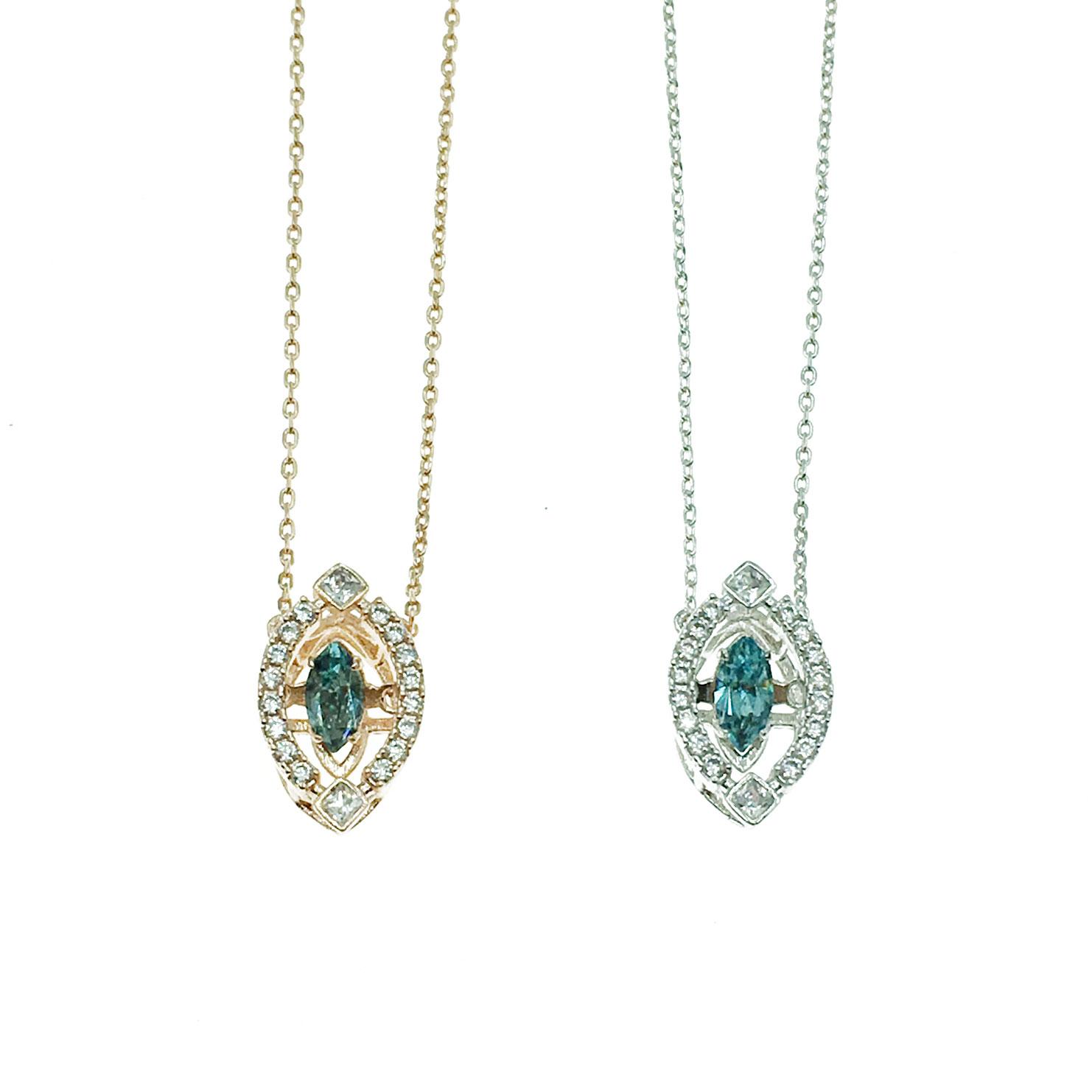 韓國 明星款 水鑽 彩鑽 天鵝 兩色 鎖骨練 項鍊