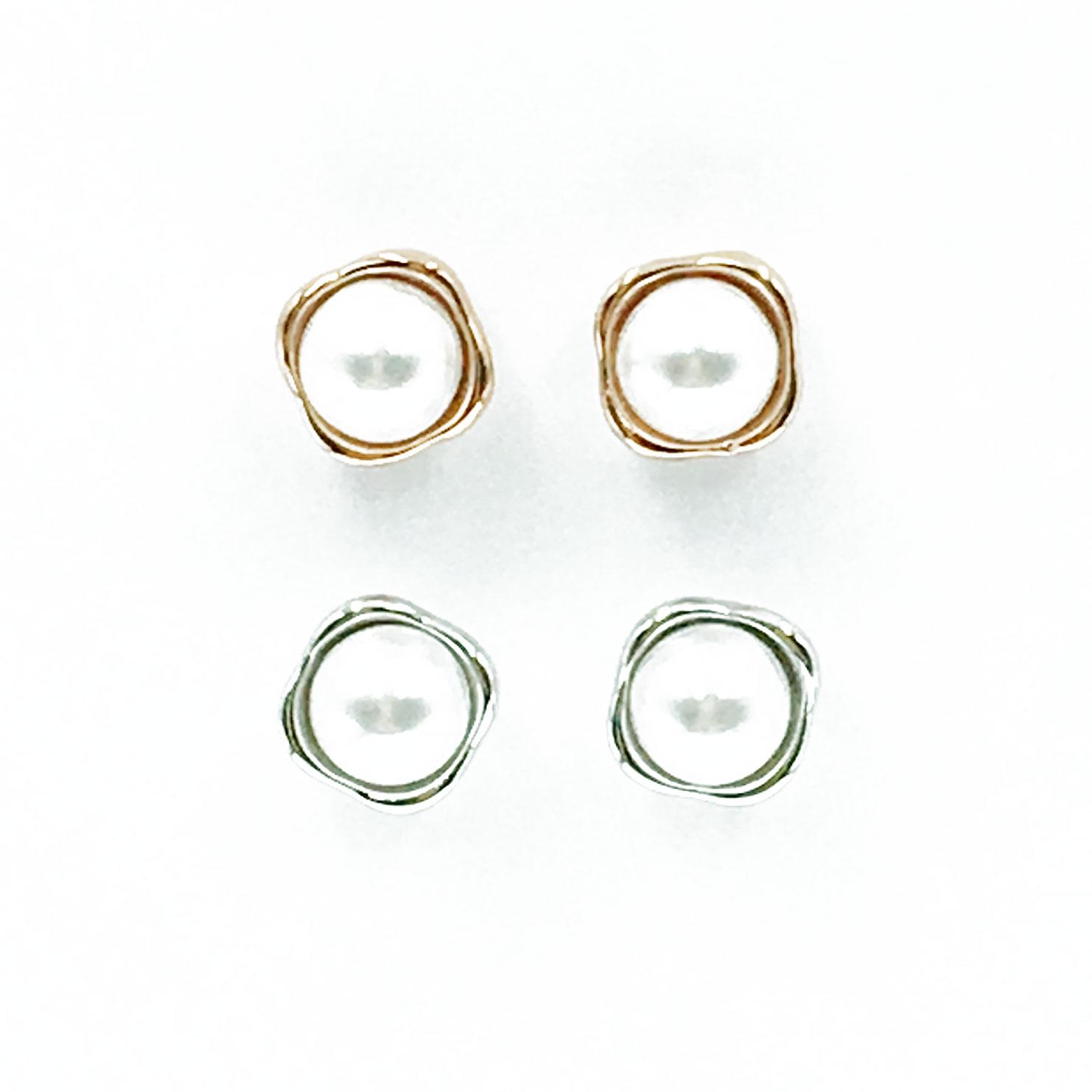 韓國 925純銀 明星款 珍珠 兩色 耳針