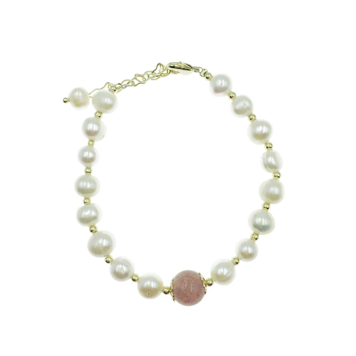 韓國 天然珠 彩珠 愛心 可調式 手環