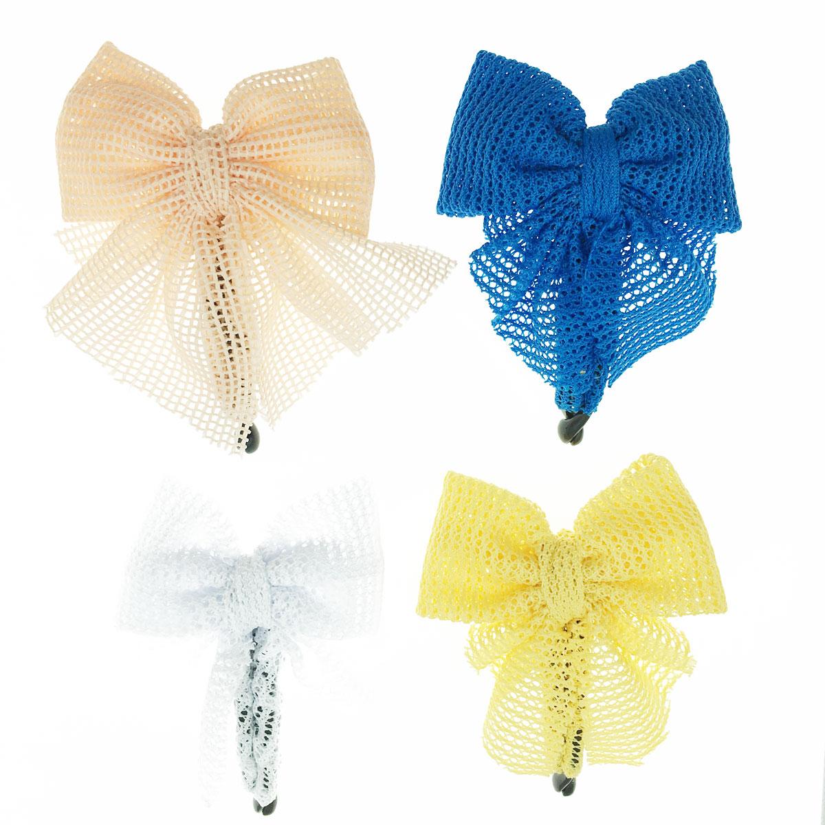 韓國 蝴蝶結 編織 四色 髮夾 髮飾 相交夾
