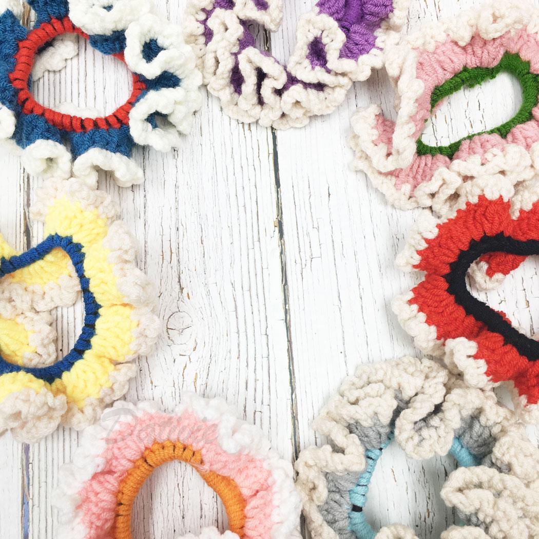 韓國 簡約 多色 同色二入一組 七色 髮圈 髮束 髮飾