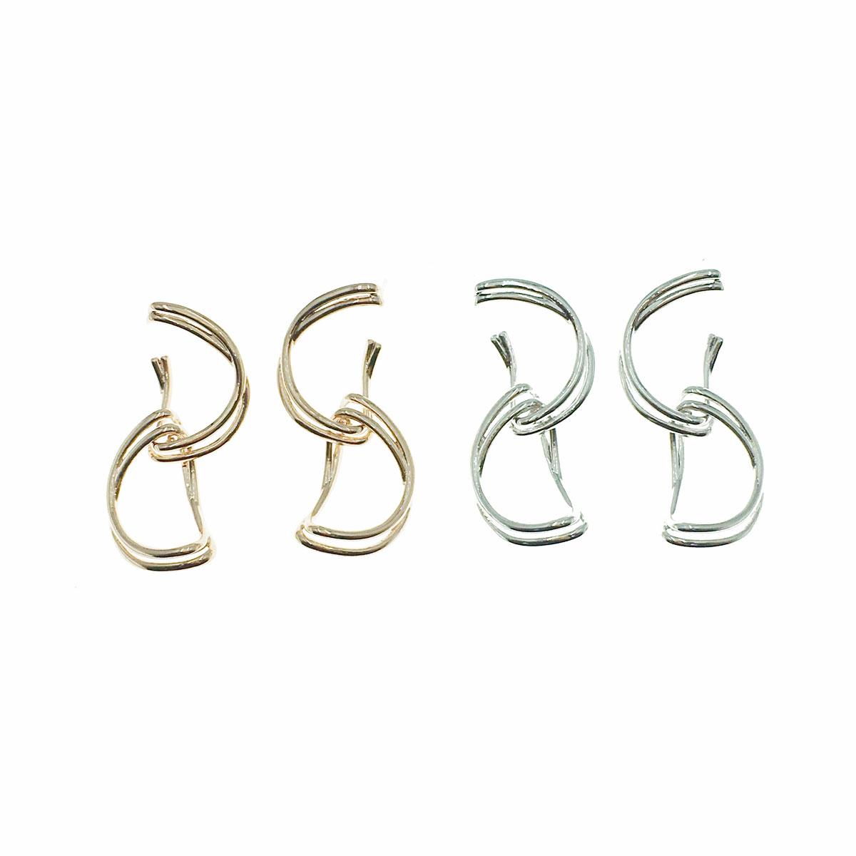 韓國 明星款 925純銀 簡約 兩色 垂墜感 耳針式 耳環