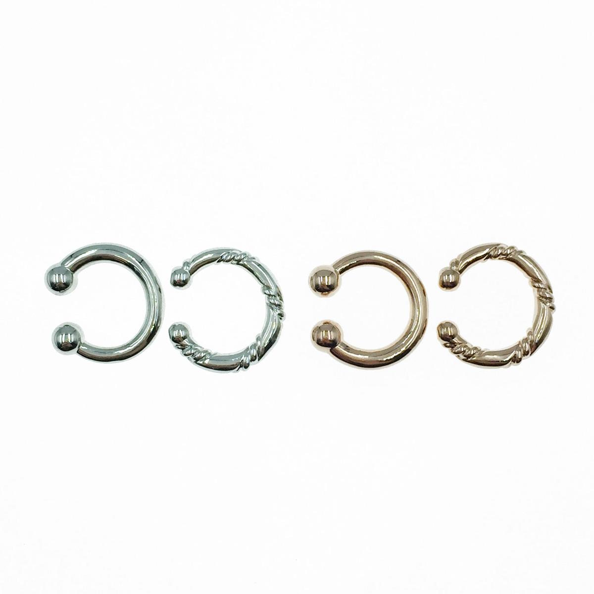 韓國 歐美風 簡約金屬 兩入組 銀 玫瑰金 耳骨夾