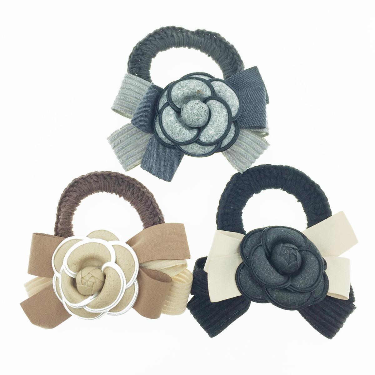 韓國 小香風 花 蝴蝶結 編織 髮飾 髮束