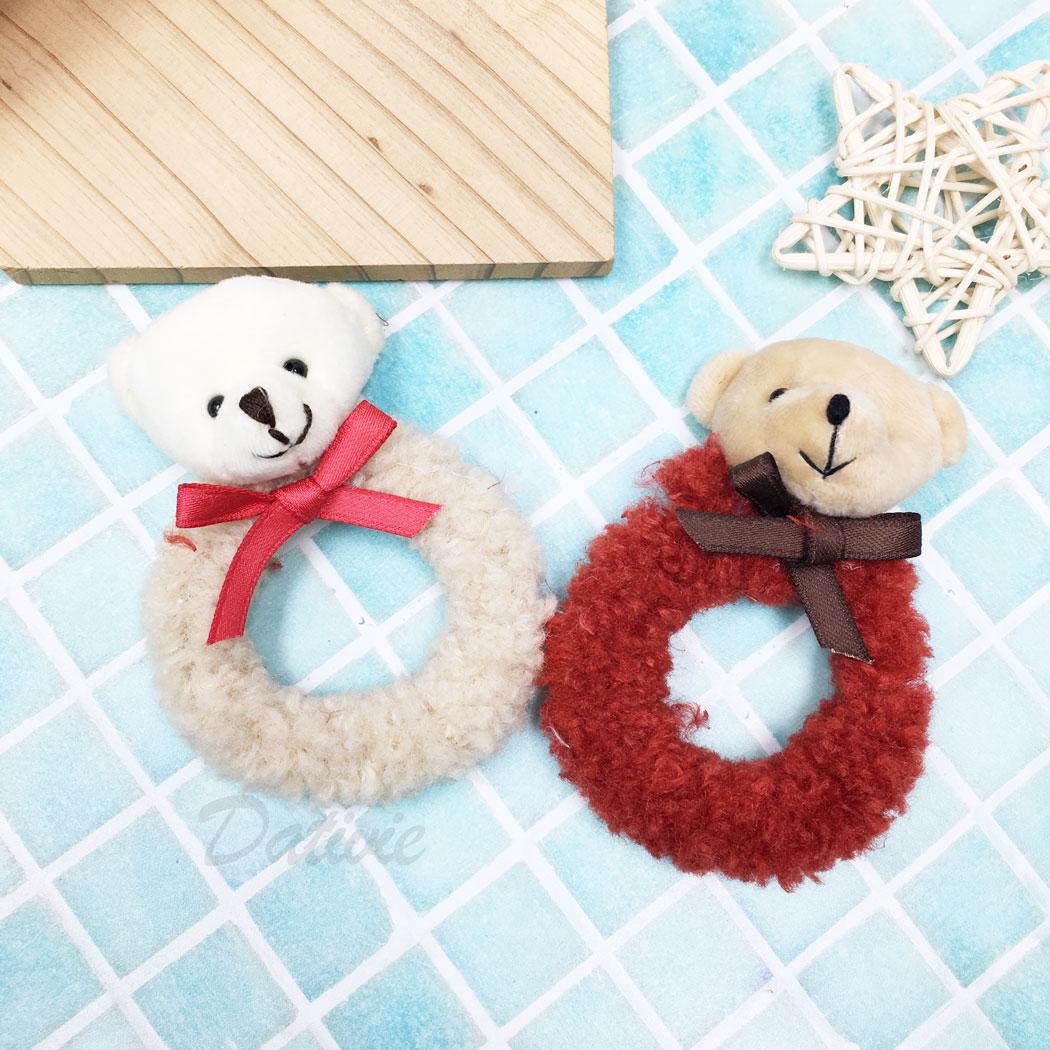 小熊 蝴蝶結 兩色 髮束 髮飾
