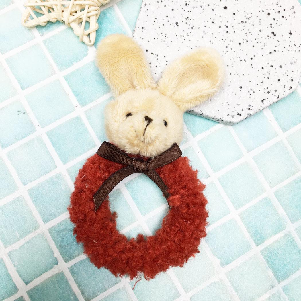 毛毛 兔子 蝴蝶結 髮束 髮飾