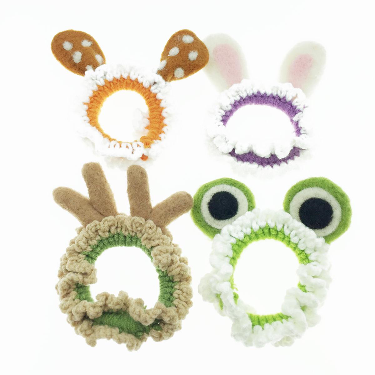 韓國 動物耳朵 兔子 麋鹿 青蛙 髮飾 髮圈