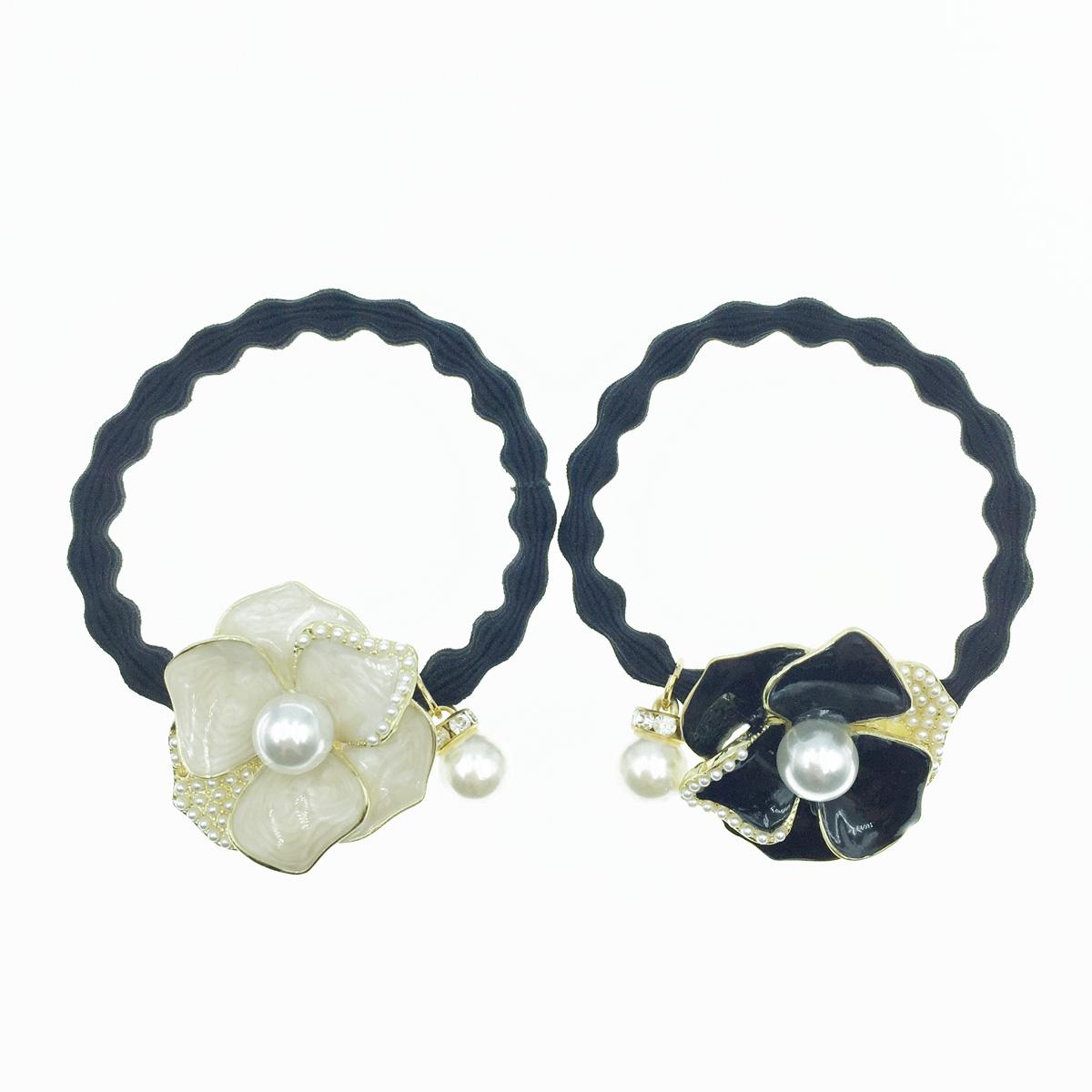 韓國 花 珍珠 2色 髮飾 髮圈