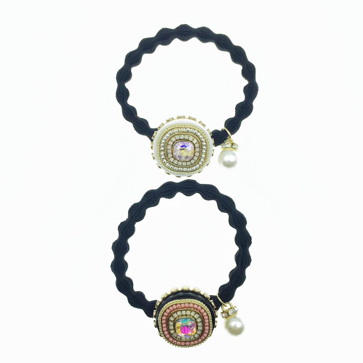 韓國 水鑽 珍珠 珠珠 2色 髮圈 髮束