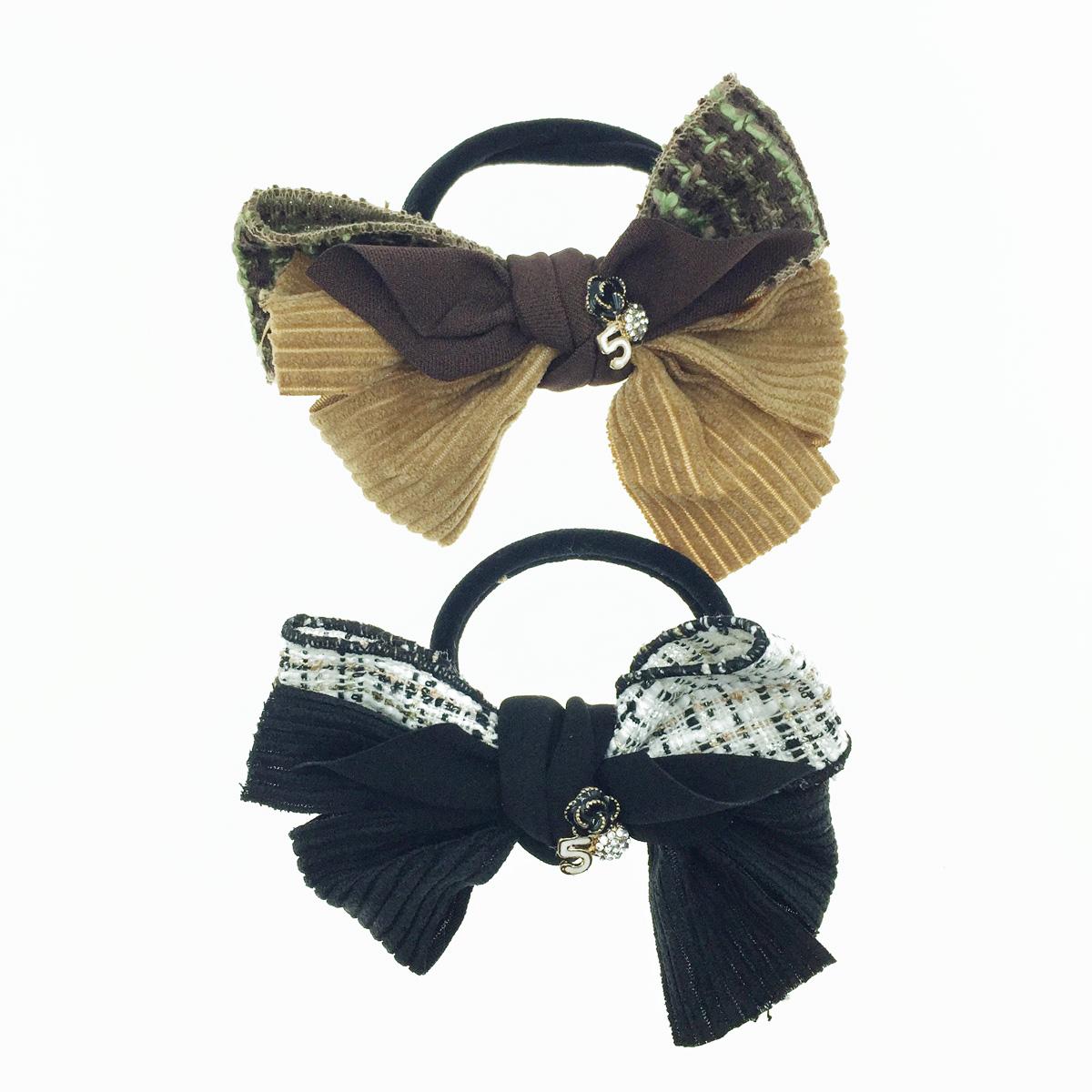 韓國 小香風 多層蝴蝶結 花 水鑽 髮飾 髮束